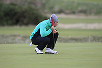 Alex Gleeson from Ireland on the 4th green during Round 3 Singles of the Men's Home Internationals 2018 at Conwy Golf Club, Conwy, Wales on Friday 14th September 2018.<br /> Picture: Thos Caffrey / Golffile<br /> <br /> All photo usage must carry mandatory copyright credit (&copy; Golffile | Thos Caffrey)
