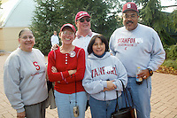 Family before Stanford's 49-17 loss to USC on November 9, 2002 at Stanford Stadium.<br />