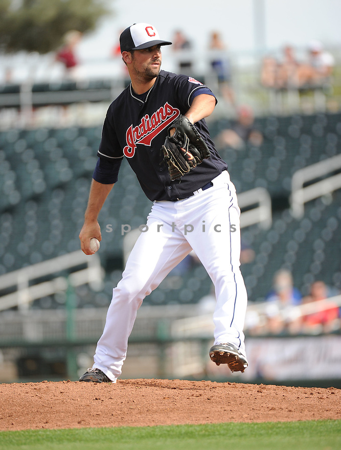 Cleveland Indians Adam Plutko (76) during a pre-season game against the Cincinnati Reds on March 1, 2016 at Goodyear Ballpark in Goodyear, AZ. The Reds beat the Indians 6-5.
