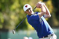 02/16/12 Pacific Palisades, CA: Dustin Johnson during the first round of the Northern Trust Open held at the Riviera Country Club