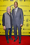 MIAMI BEACH, FL - MARCH 09: Actor/Producer/Director Edward James Olmos and Deputy Mayor of Miami Dade County Russell Benford attend the Miami Dade College's: Miami Film Festival for 'Monday Nights At Seven' at O Cinema Miami Beach on March 9, 2017 in Miami, Florida. ( Photo by Johnny Louis / jlnphotography.com )