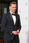 London, UK. 8 May 2016. Actor Tom Hiddleston. Red carpet  celebrity arrivals for the House Of Fraser British Academy Television Awards at the Royal Festival Hall.