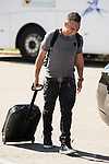 Arrival of the players of the Spanish football team squad for the Qualifying to European Championship in France at the Ciudad del Futbol of Las Rozas, Madrid. October 06, 2015<br /> In the image midfield player of the Arsenal, Santi Cazorla.<br /> (ALTERPHOTOS/BorjaB.Hojas)