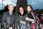 Architect John O'Rioran with his family Brid and Grainne  at the round tower unveiling in Glenbeigh on Saturday night