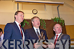 THE GOLDEN VOICE: Kerry's greatest known man with the golden voice Micheal O'Muircheartaigh was honoured at a Civic Reception in Kerry County Council Chambers on Monday afternoon.