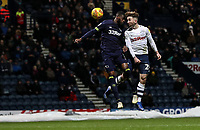 Preston North End's Sean Maguire heads at goal <br /> <br /> Photographer Andrew Kearns/CameraSport<br /> <br /> The EFL Sky Bet Championship - Preston North End v Derby County - Friday 1st February 2019 - Deepdale Stadium - Preston<br /> <br /> World Copyright © 2019 CameraSport. All rights reserved. 43 Linden Ave. Countesthorpe. Leicester. England. LE8 5PG - Tel: +44 (0) 116 277 4147 - admin@camerasport.com - www.camerasport.com