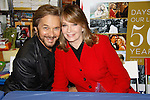 """Cast of Days Of Our Lives - Diedre Hall """"Marlena Evans"""", Stephen Nichols """"Steven Patch Brady"""" sign book """"Days Of Our Lives 50 Years"""" by Greg Meng - author & co-executive producer on October 27, 2015 at Books & Greetings, Northvale, New Jersey. (Photo by Sue Coflin/Max Photos)"""