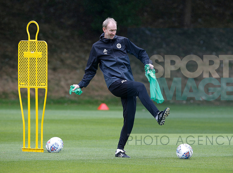 Alan Knill assistant manager during the training session at the Shirecliffe Training complex, Sheffield. Picture date: June 27th 2017. Pic credit should read: Simon Bellis/Sportimage