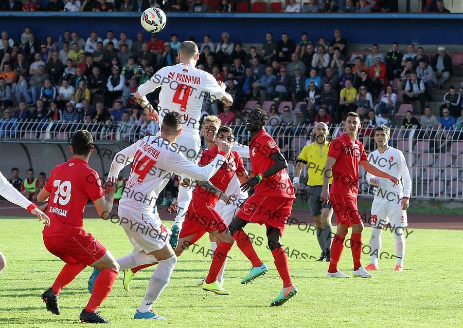 Fudbal Super liga season 2014-2015<br /> Radnicki (Nis) v Napredak<br /> Rados Bulatovic Radnicki Nis<br /> Nis, 25.04.2015.<br /> foto: Sasa Djordjevic/Starsportphoto &copy;