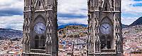 La Basilica Church and Panecillo Hill, Historic Centre of the City of Quito, Ecuador, South America