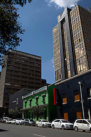 Some of the buildings owned by property developer Adam Levy in Braamfontein, Johannesburg, South Africa. Mr. Levy who was working in law, decided to buy a building ten years ago and he converted it into seven spacious floor-through apartments including his own duplex penthouse over looking Johannesburg and sized at 550 square meters. He has since then bought several buildings in the area and helped the area to be a lively spot. (Photograph by: Per-Anders Pettersson)