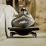 8 January 2016: Brittany Reinbolt, piloting her 2-man bobsled for the United States of America, enters the Chicane straightaway on her second run, ending the day with a combined 2-run time of 1:55.97 and earning a 9th place finish at the BMW IBSF World Cup Championships at the Olympic Sports Track in Lake Placid, New York, USA. Mandatory Credit: Ed Wolfstein Photo *** RAW (NEF) Image File Available ***