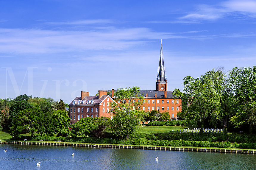 Historic Charles Carroll House and St Mary's Church, Annapolis, Maryland, USA