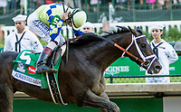 LOUISVILLE, KY - MAY 06: John Velazquez celebrates after winning the Kentucky Derby aboard Always Dreaming #5 on Kentucky Derby Day at Churchill Downs on May 6, 2017 in Louisville, Kentucky. (Photo by Sue Kawczynski/Eclipse Sportswire/Getty Images)