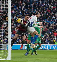 Brighton & Hove Albion's Glenn Murray (right) battles with  Watford's Ben Foster (left) <br /> <br /> Photographer David Horton/CameraSport<br /> <br /> The Premier League - Brighton and Hove Albion v Watford - Saturday 2nd February 2019 - The Amex Stadium - Brighton<br /> <br /> World Copyright © 2019 CameraSport. All rights reserved. 43 Linden Ave. Countesthorpe. Leicester. England. LE8 5PG - Tel: +44 (0) 116 277 4147 - admin@camerasport.com - www.camerasport.com