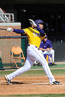 Leon Landry #6 of the LSU Tigers at Lindsey Nelson Stadium in game against Tennessee Volunteers in Knoxville, TN March 27, 2010 (Photo by Tony Farlow/Four Seam Images)