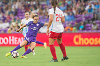 Orlando, FL - Saturday July 01, 2017: Rachel Hill, Danielle Colaprico during a regular season National Women's Soccer League (NWSL) match between the Orlando Pride and the Chicago Red Stars at Orlando City Stadium.