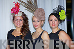 Milliner Agne Kremenskiene Killarney displays some of the hats she design at the Fossa Community fashion show on Tuesday night l-r: Agne Kremenskiene, Erika Mockeviciude and Sophia Wise all Killarney