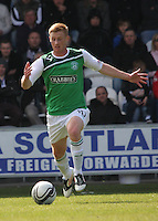 Eoin Doyle in the St Mirren v Hibernian Clydesdale Bank Scottish Premier League match played at St Mirren Park, Paisley on 29.4.12.