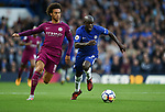 Ngolo Kante of Chelsea is challenged by Leroy Sane of Manchester City during the premier league match at the Stamford Bridge stadium, London. Picture date 30th September 2017. Picture credit should read: Robin Parker/Sportimage