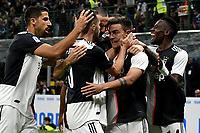 Paulo Dybala of Juventus celebrates with team mates after scoring the goal of 0-1 for his side <br /> Milano 6-10-2019 Stadio Giuseppe Meazza <br /> Football Serie A 2019/2020 <br /> FC Internazionale - Juventus FC <br /> Photo Andrea Staccioli / Insidefoto