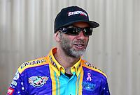 Jul. 20, 2014; Morrison, CO, USA; NHRA pro stock motorcycle rider Matt Smith during the Mile High Nationals at Bandimere Speedway. Mandatory Credit: Mark J. Rebilas-