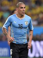 FUSSBALL WM 2014                ACHTELFINALE Kolumbien - Uruguay                  28.06.2014 Maxi Pereira (Uruguay)