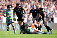 Exeter Chiefs' Dave Ewers in action during todays match<br /> <br /> Photographer Bob Bradford/CameraSport<br /> <br /> Aviva Premiership Play-Off Semi Final - Exeter Chiefs v Newcastle Falcons - Saturday 19th May 2018 - Sandy Park - Exeter<br /> <br /> World Copyright &copy; 2018 CameraSport. All rights reserved. 43 Linden Ave. Countesthorpe. Leicester. England. LE8 5PG - Tel: +44 (0) 116 277 4147 - admin@camerasport.com - www.camerasport.com