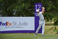 Alex Noren (SWE) watches his tee shot on 12 during round 4 of the WGC FedEx St. Jude Invitational, TPC Southwind, Memphis, Tennessee, USA. 7/28/2019.<br /> Picture Ken Murray / Golffile.ie<br /> <br /> All photo usage must carry mandatory copyright credit (© Golffile | Ken Murray)