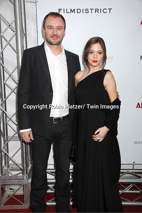 """Aleksandar Djurica and Jelena Jovanova attends The New York Premiere of Angelina Jolie's movie .."""" In the Land of Blood and Honey"""" on December 5, 2011 at The School of Visual Arts Theatre in New York City."""
