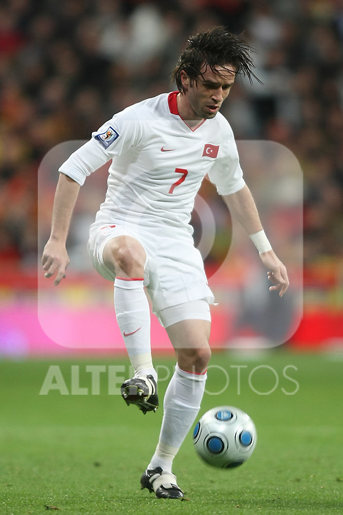 Tukey's Gokhan Gonul during international match.March 28 2009. (ALTERPHOTOS/Acero).