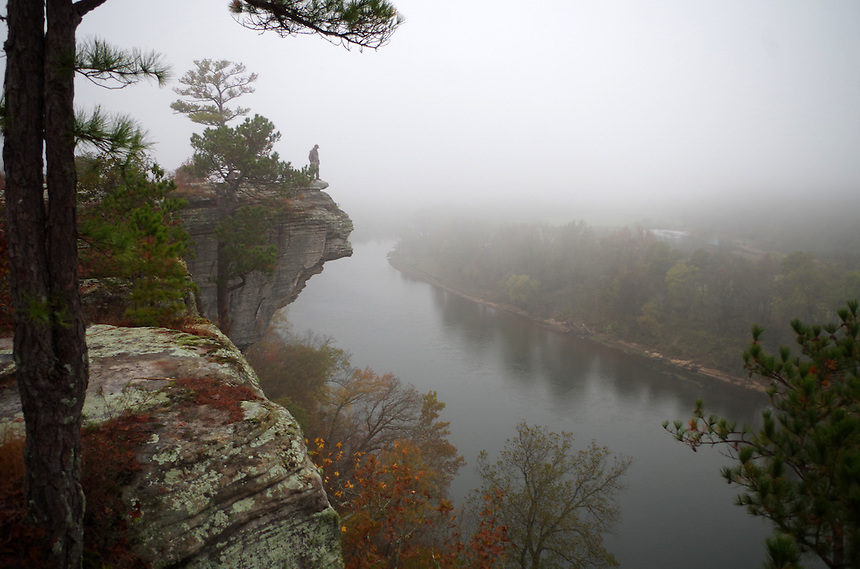 Little Hawksbill Crag at City Rock Bluff near Calico Rock, Arkansas