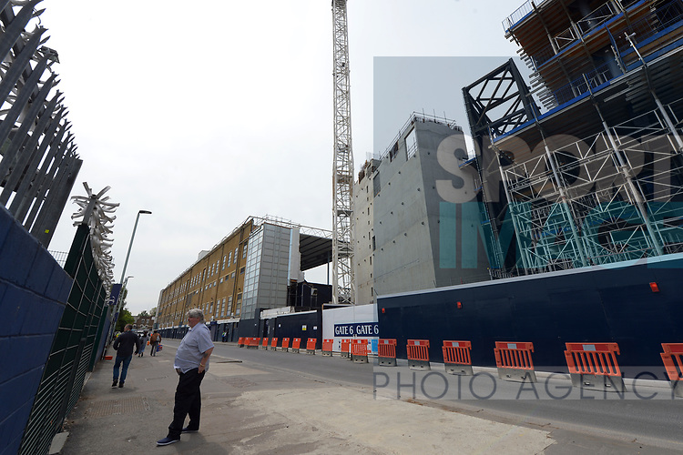 The general view outside of the old and the new building work in progress at White Hart Lane Stadium. English Premier League match at the White Hart Lane Stadium, London. Picture date: April 30th, 2017.Pic credit should read: Robin Parker/Sportimage