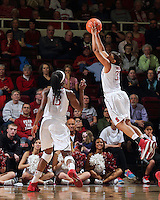 STANFORD, CA - February 27, 2014: Stanford Cardinal's Amber Orrange during Stanford's 83-60 victory over Washington at Maples Pavilion.