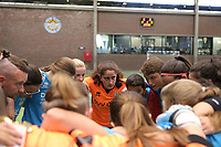 20190915– HALLE , BELGIUM : FP Halle-Gooik Girls B players are pictured at the start of the Belgian Women's Futsal D1 match between FP Halle-Gooik A and FP Halle-Gooik B on Sunday 15th 2019 at the De Bres Sport Complex in Halle, Belgium. PHOTO SPORTPIX.BE | Sevil Oktem