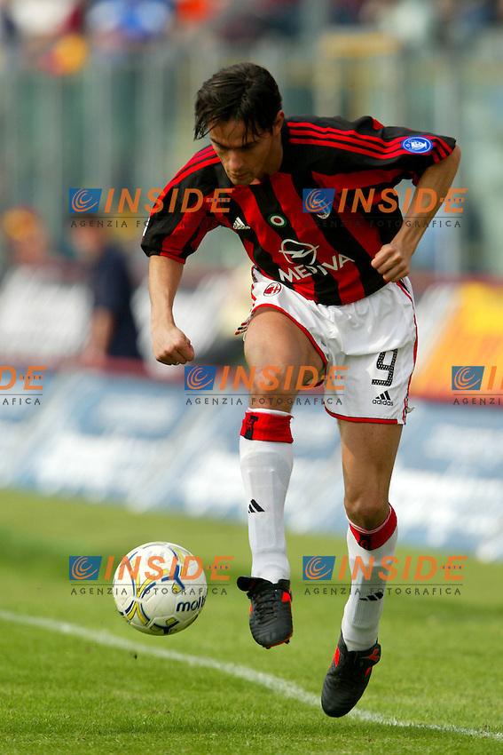 Modena 4/4/2004 Campionato Italiano Serie A 28a Giornata - Matchday 28<br /> Modena Milan 1-1<br /> Filippo Inzaghi (Milan)<br /> Foto Andrea Staccioli Insidefoto