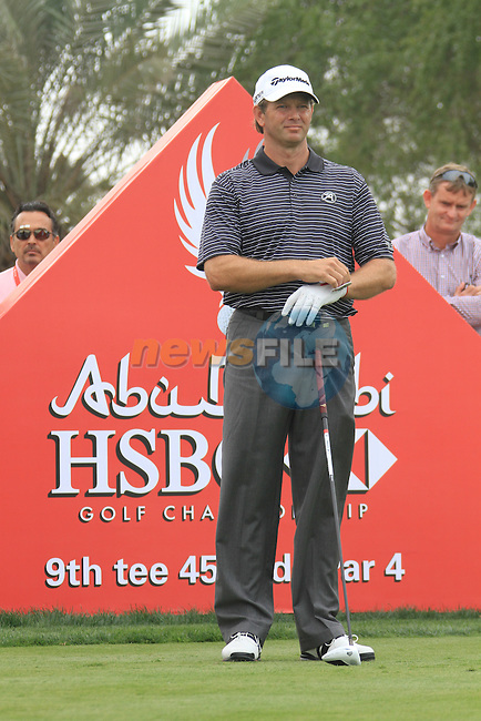 Ratief Goosen on the 9th tee on day one of the Abu Dhabi HSBC Golf Championship 2011, at the Abu Dhabi golf club, UAE. 20/1/11..Picture Fran Caffrey/www.golffile.ie.