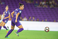 Orlando, FL - Saturday August 12, 2017: Ali Krieger during a regular season National Women's Soccer League (NWSL) match between the Orlando Pride and Sky Blue FC at Orlando City Stadium.