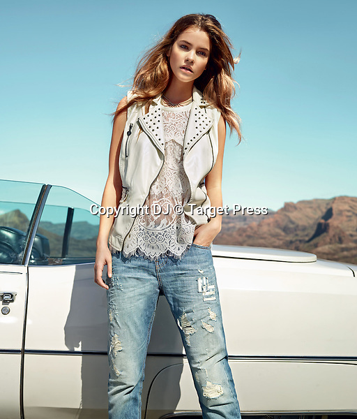 Hungarian model Barbara Palvin is the face of  Twin Set   jeans collection.<br /> <br /> <br /> &copy; DJ / Target Press - 04/02/2014 - *Hands Out Pics*
