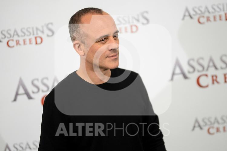 "Javier Gutierrez during the presentation of the film ""Assassin's Creed"" in Madrid, Spain. December 07, 2016. (ALTERPHOTOS/BorjaB.Hojas)"