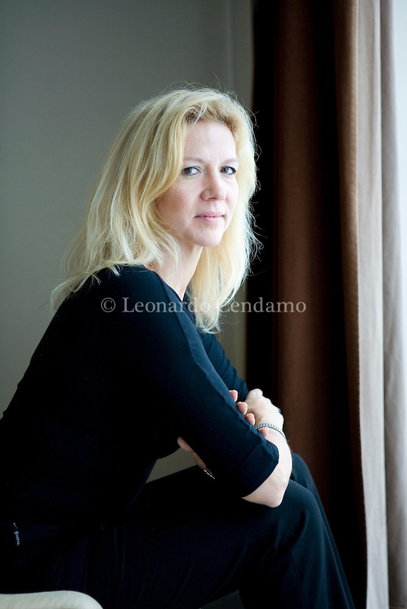 Courmayeur, Aosta, Italy, 2008. Liza Marklund, Swedish journalist and crime writer. Her books has been translated in thirthy languages and published in Italy by Marsilio.