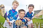 SPORTING FUN: Colin Walsh, Sean Patterson and Ciaran Casey enjoying the GAA Cu?l Camp at Ballyheigue on Friday.