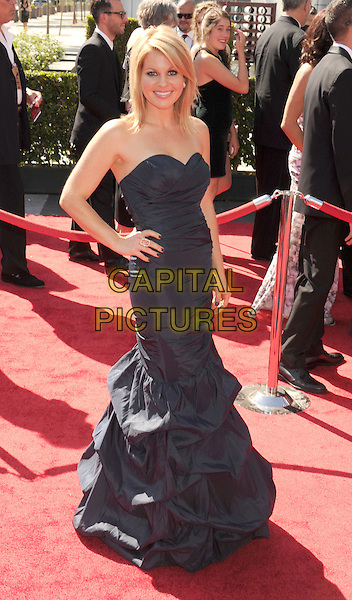 Candace Cameron Bure.2012 Creative Arts Emmy Awards at Nokia Theatre L.A. Live, Los Angeles, California USA..15 September 2012.emmys full length blue strapless dress gathered hand on hip.CAP/ROT/TM.© TM/Roth/Capital Pictures