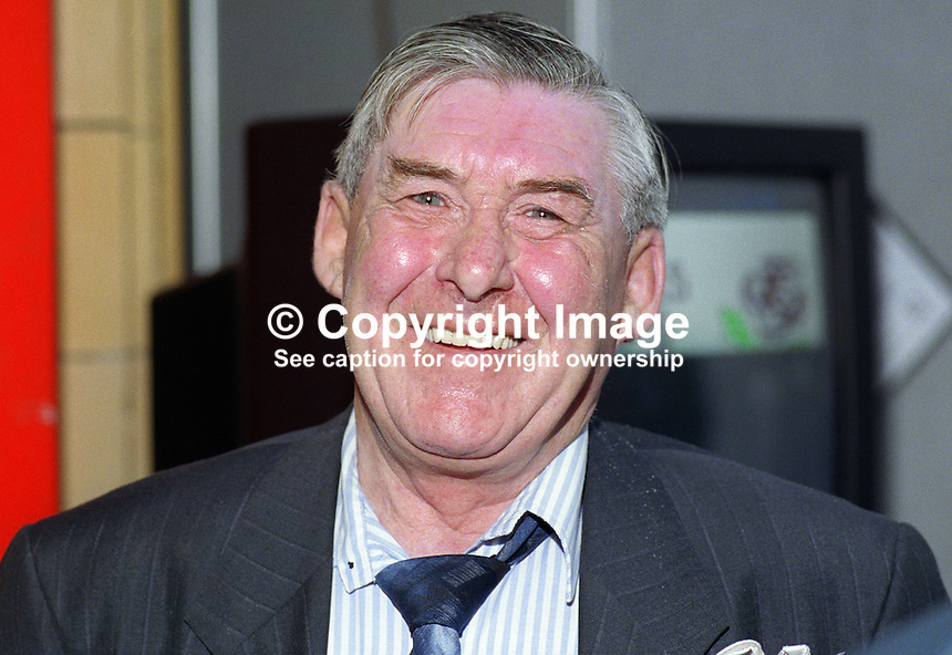Mick McGahey, retired leader, Scottish miners, UK, 19921020MMG.<br />