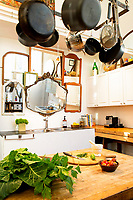 Hanging pots and pans