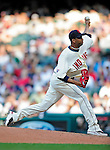 5 September 2009: Cleveland Indians' relief pitcher Rafael Perez on the mound against the Minnesota Twins at Progressive Field in Cleveland, Ohio. The Indians fell to the Twins 4-1 in the second game of their three-game weekend series. Mandatory Credit: Ed Wolfstein Photo
