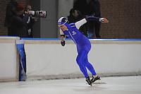 SCHAATSEN: DEVENTER: IJsbaan De Scheg, 27-10-12, IJsselcup, winnares 1000m Marit Dekker, ©foto Martin de Jong