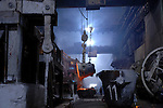 The smelting section of the copper factory of the company Norilsk Nickel in the city of Norilsk, a vital metallurgical industrial city in Russia's Artic north. June 15, 2007