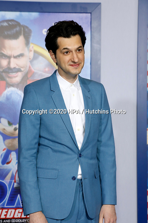 """LOS ANGELES - FEB 12:  Ben Schwarz at the """"Sonic The Hedgehog"""" Special Screening at the Village Theater on February 12, 2020 in Westwood, CA"""