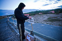 "Car park for Adriano de Souza (BRA). . CULS NUS BEACH, Hossegor/France (Tuesday, September 28, 2010) -Inconsistent one-to-two foot (0.5) metre surf was on offer this morning at Culs Nus Beach, prompting event organizers to call a lay day for Quiksilver Pro France competition.. .Event No. 7 of 10 on the 2010 ASP World Tour, the Quiksilver Pro France has completed Round 1 and the opening three heats of Round 2 and will look to recommence competition as early as tomorrow.. .""We've assessed conditions at both Culs Nus Beach and Estagnot and decided to call competition off for the day,"" Rich Porta, ASP International Head Judge, said. ""We expect to see a bump in swell starting tomorrow so we'll be back in the morning to make the call."". Photo: joliphotos.com"
